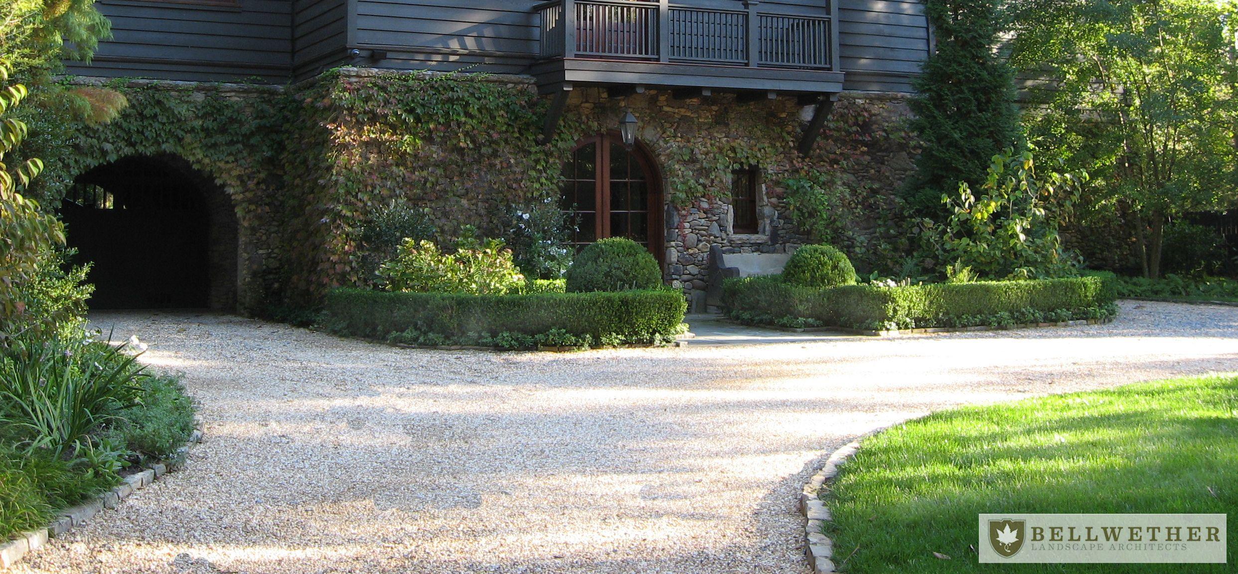 Landscape architect atlanta ga - Pea Gravel Front Entry With Boxwood Borders Bellwether Landscape Architects In Atlanta Ga