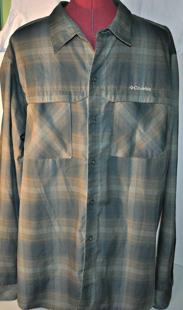 Columbia Omni-Wick Casual Shirt Extra Large Mens Advanced Evaporation Active  #ColumbiaSportswear #Shirt