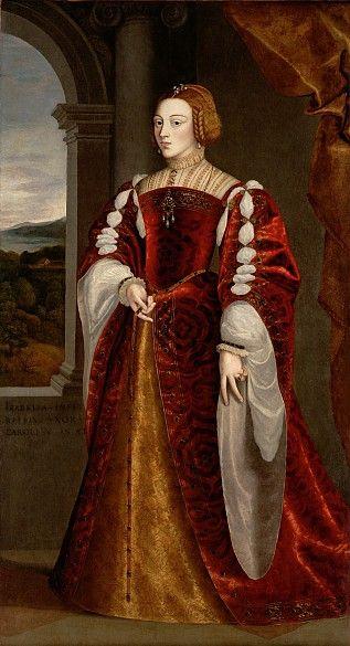Portrait of Isabella of Portugal (1503-1539) Holy Roman Empress after Jakob Seisenegger