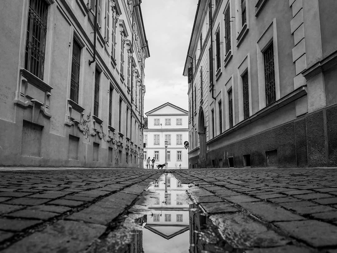 """""""Mi piace"""": 91, commenti: 8 - mystreet & co. (@mystreetandco) su Instagram: """"Alessandria dopo il temporale #Alessandria #reflection #cobblestone #architecture #streets…"""""""