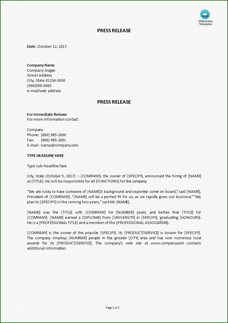 Press Release Template Google Docs 11 Concept that Will