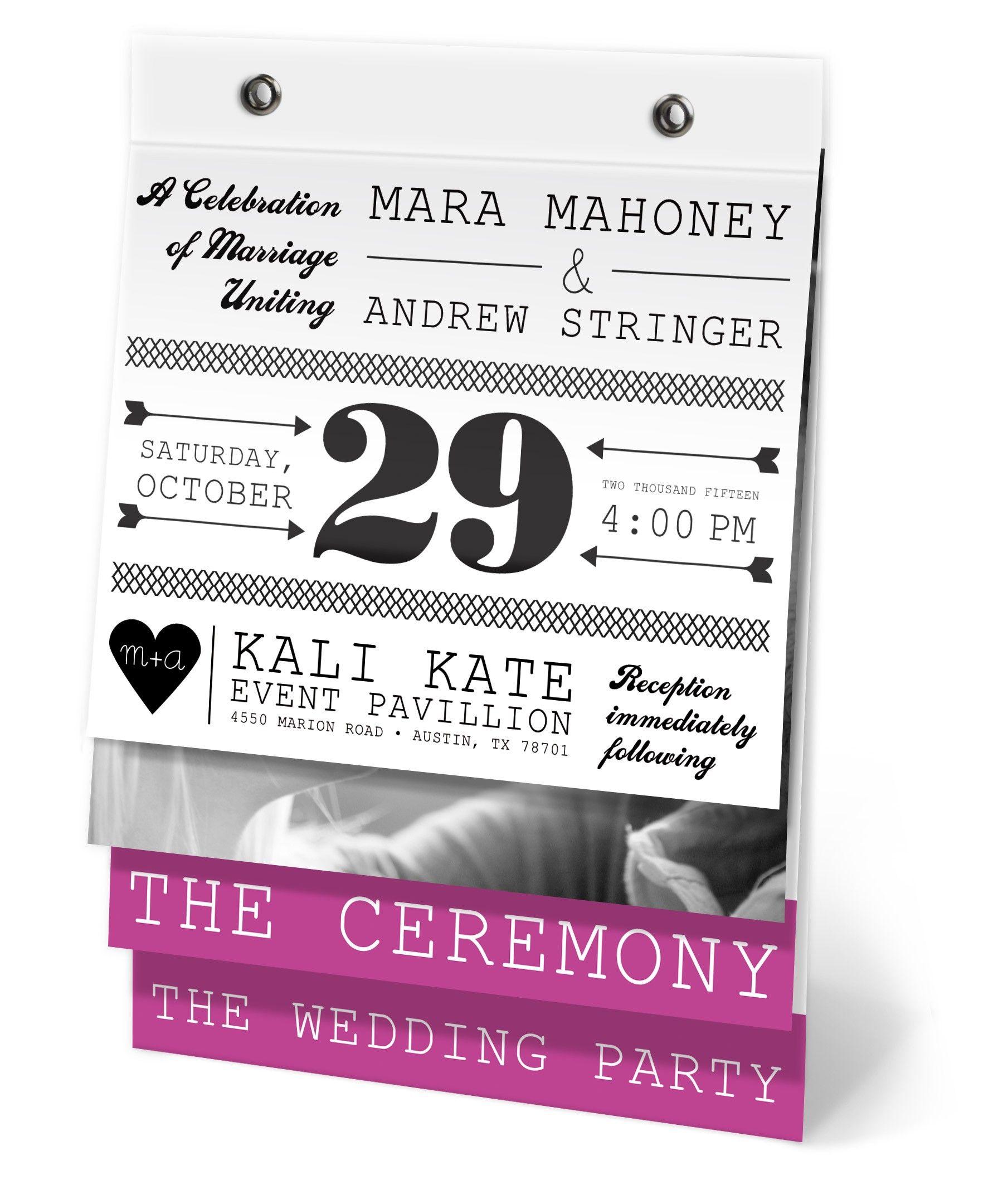 Super cute wedding program <3 Papersnaps.com has several ideas! | 9 ...
