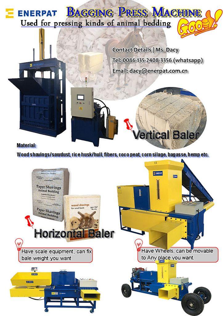Enerpat Bagging Press Machine Horse Bedding Press Machine Shaving Machine