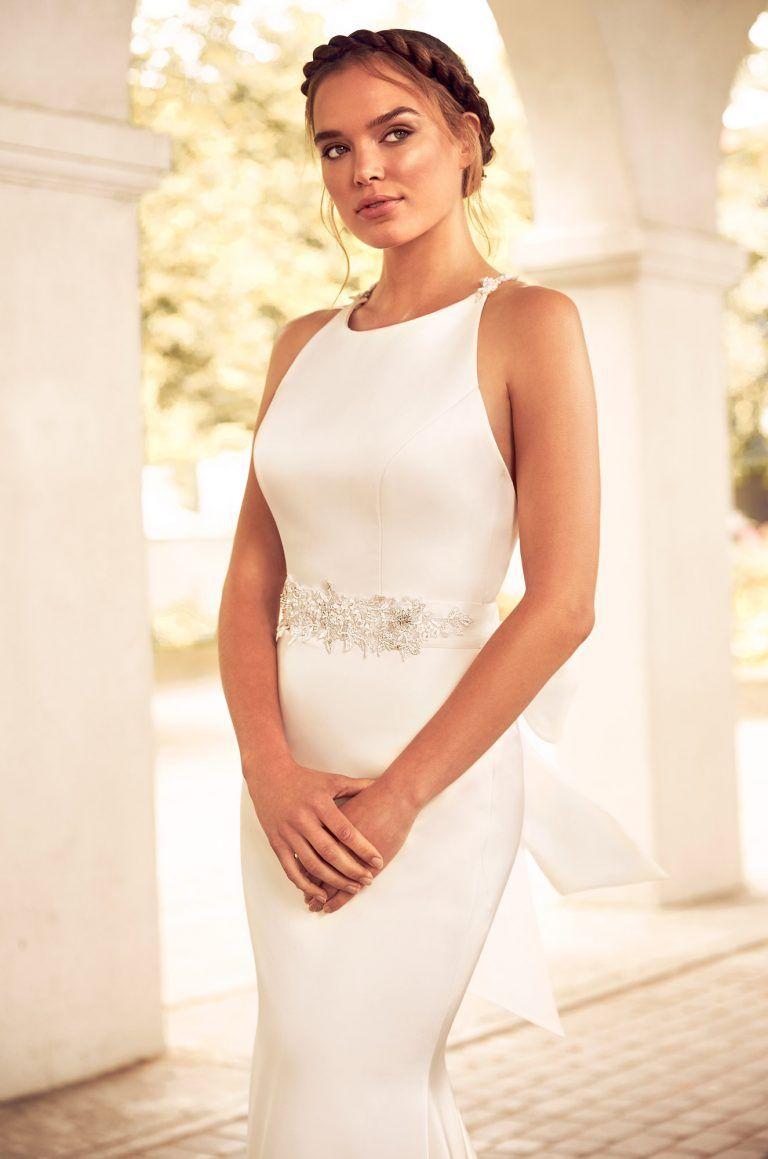 Beaded Racerback Wedding Dress Style Bridal Fashion