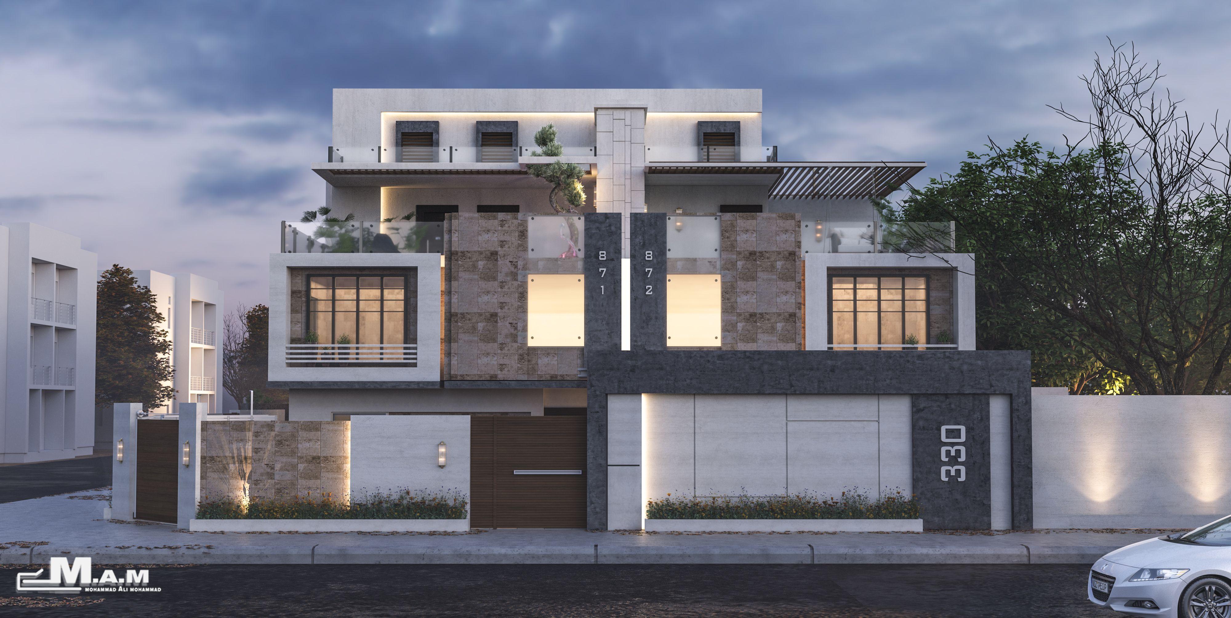 Modern elevation ksa mohammad ali mohammad architect