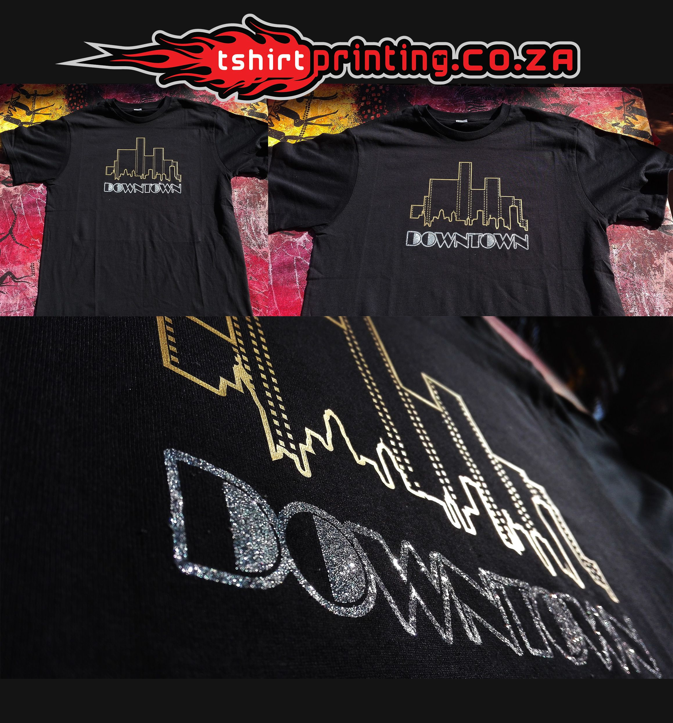 The Best Vinyl Printing In South Africa Sparkling Print Glitter Printing Ideas Printed Shirts T Shirt Cool T Shirts