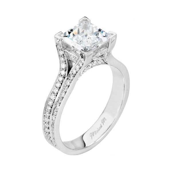 Princess Cut Engagement Rings Pave 17