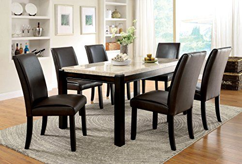 Furniture Of America Minna Contemporary Marble Dining Table