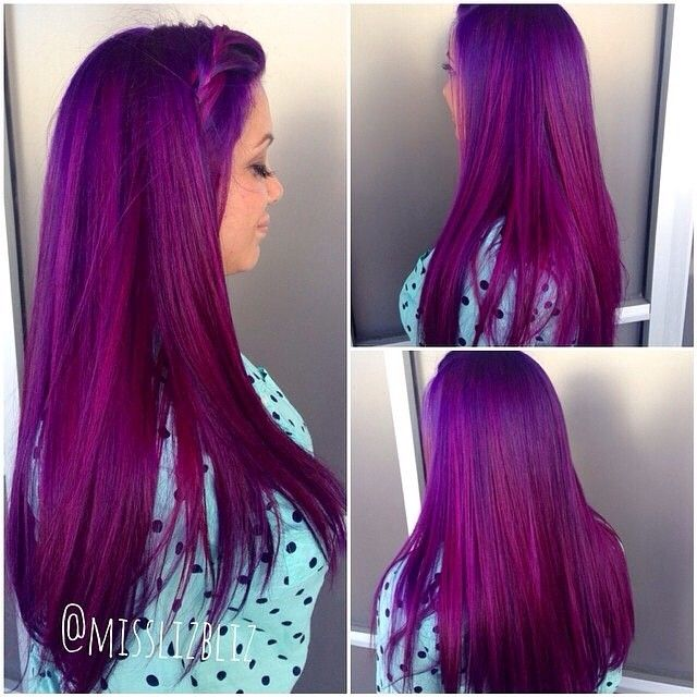 Custom Mixed Violet Melted Into Wild Orchid Ends By Lead Stylist