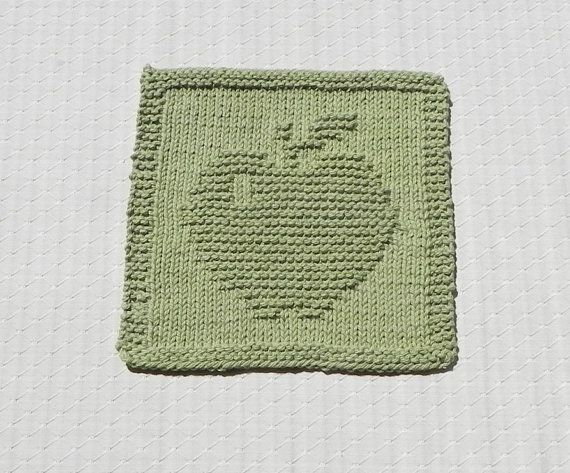 APPLE Knit Dishcloth. Hand Knitted Unique by AuntSusansCloset, $4.50                                                                                                                                                                                 Mehr