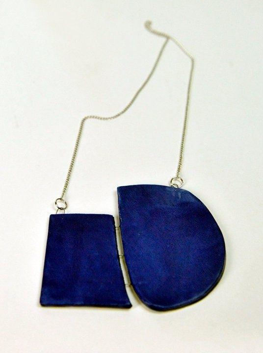 Blue. Geometric shapes.