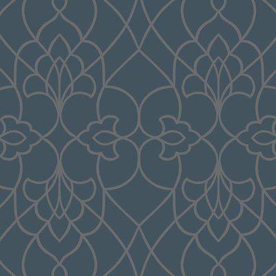York Wallcoverings Modern Luxe Pirouette 33 X 20 5 Geometric Wallpaper Color Satin Teal Modern Wallpaper Designs Contemporary Wallpaper Textured Wallpaper