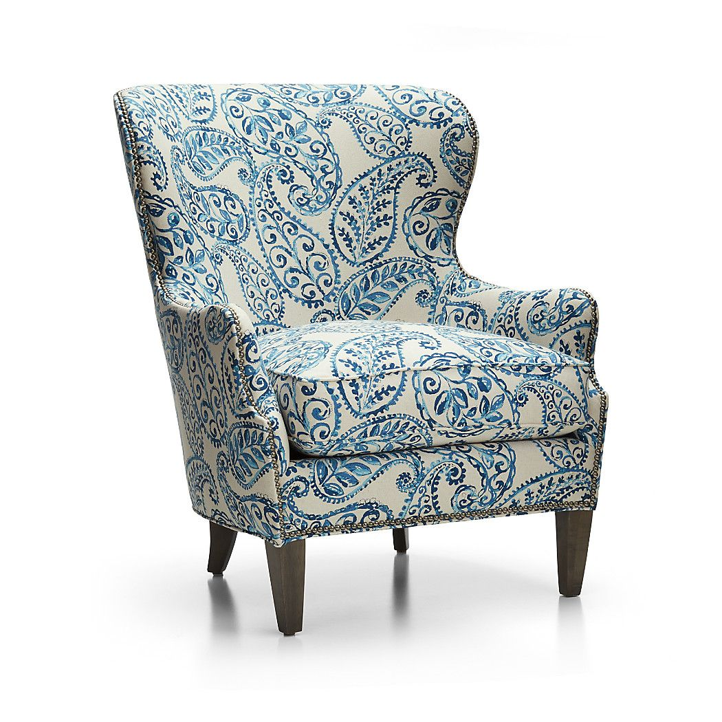 An Overscaled Paisley Print Makes The Brielle Wing Chair An Instant Statement Piece For Wingback Chair Comfortable Accent Chairs Accent Chairs For Living Room