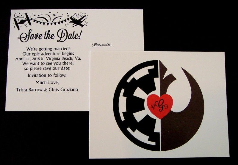 An Elegant Star Wars Invitation Suite For A More Civilized