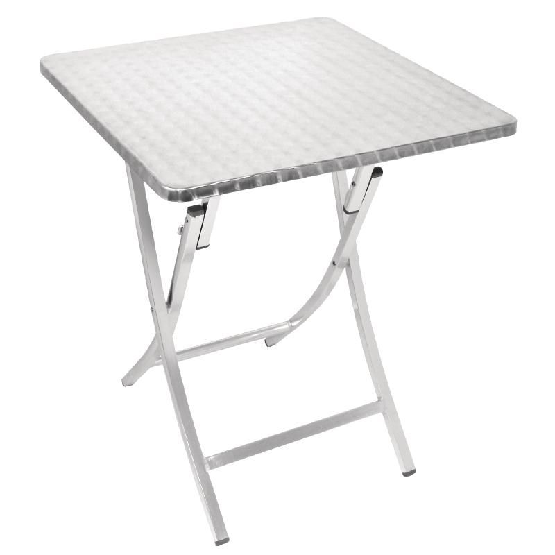 bolero square folding bistro table aluminium 600mm
