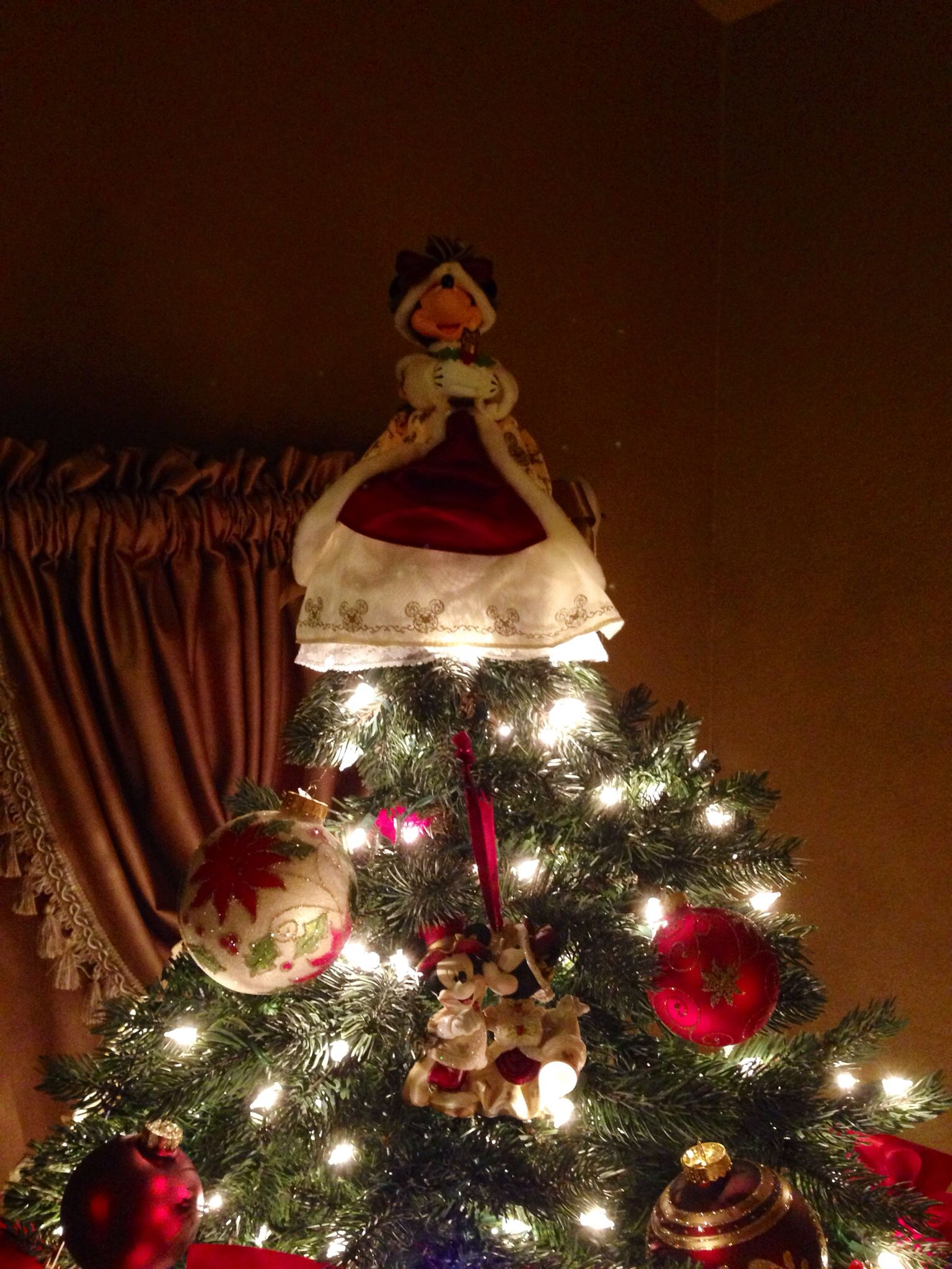 Victorian Disney Minnie Mouse Christmas Tree Topper & Ornament❤️2013