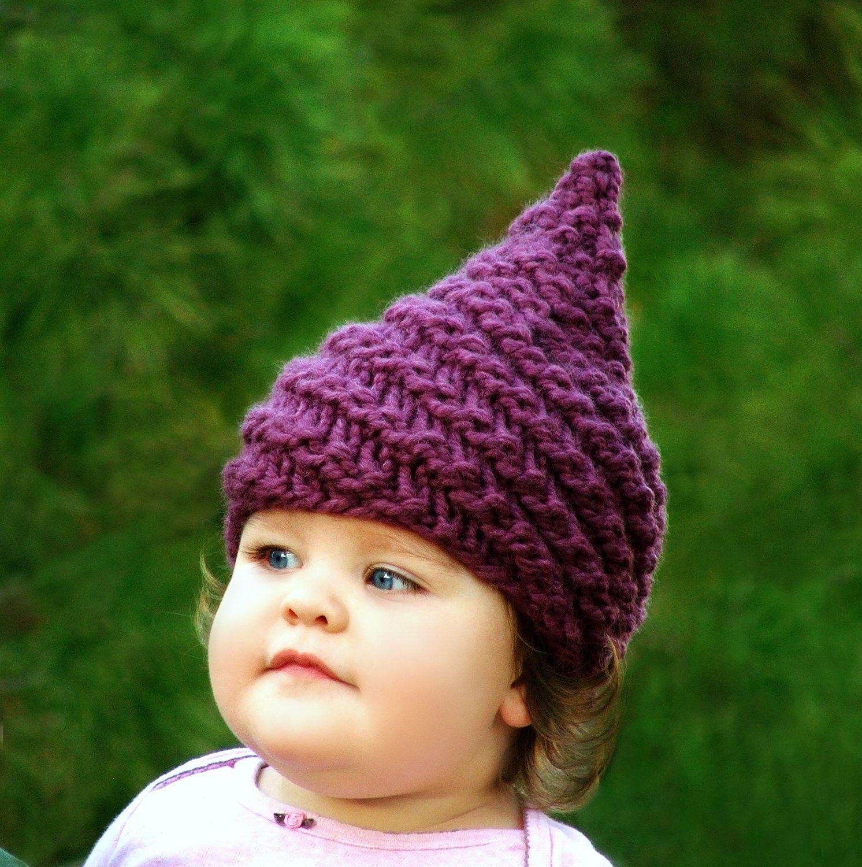Knitting PATTERN - Baby Gnome Hat Pattern - Sizes (0-3mo/3-6mo/12 ...