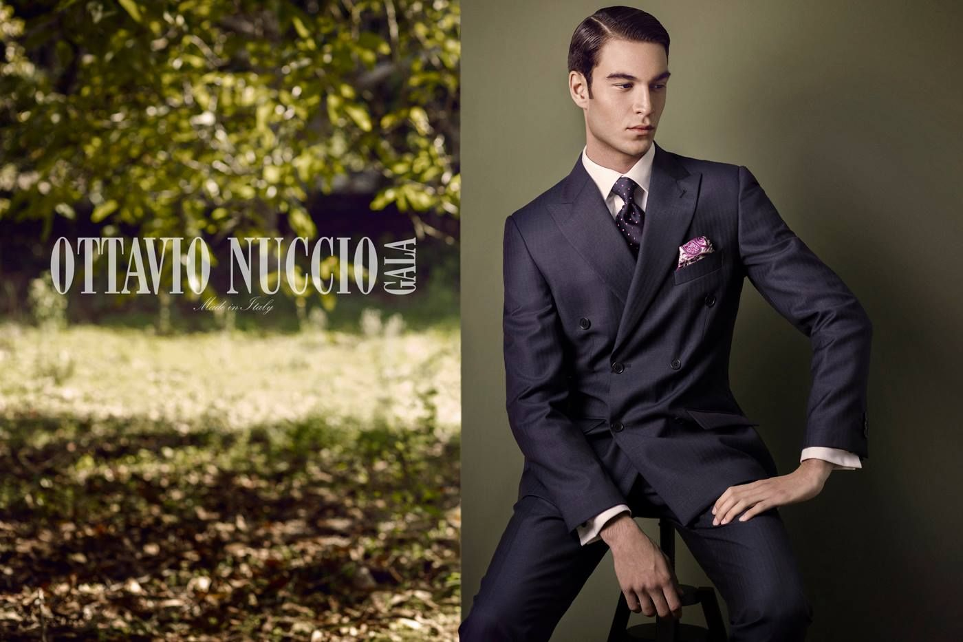 Advertising campaign 2017 - Ottavio Nuccio Gala gentleman collection  Double breasted peak lapel suit: perfect formalwear! #luxury #menswear #madeinitaly #elegance #fashion