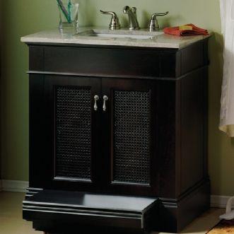 American standard generations vanity with built in step - American standard bathroom cabinets ...