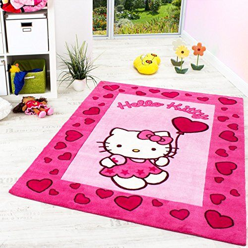 Hello Kitty Teppich Kinderzimmer Teppich mit Bordüre und