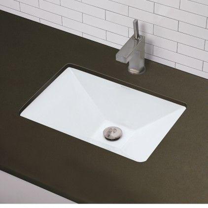 Decolav 1409 Cwh Rectangular Undermount Bathroom Sink Ceramic White At Plumbersurplus