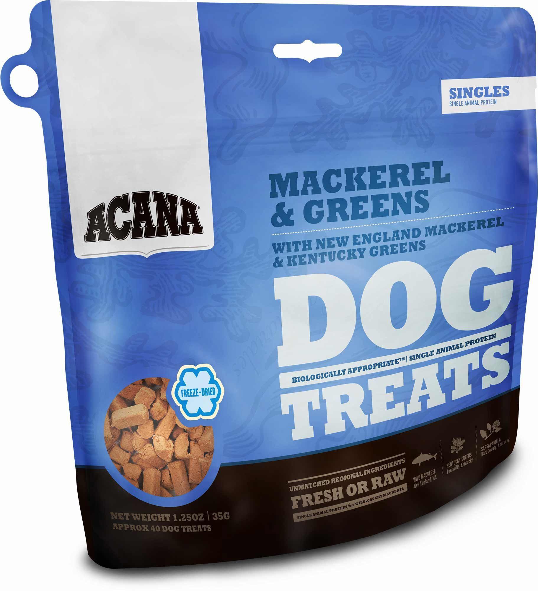 Acana singles mackerel greens treats dog treats dog