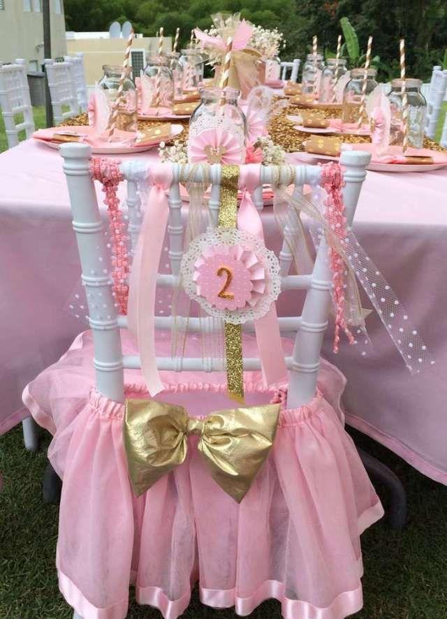 Minnie mouse en dorado y rosa cumplea os fiestas y for Silla quinceanera