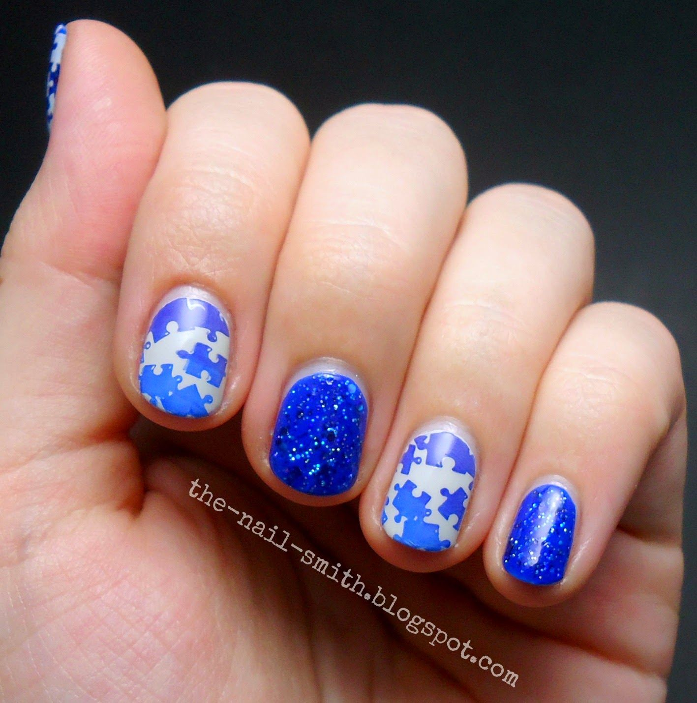The Nail Smith: Blue Puzzles for Autism Awareness Month