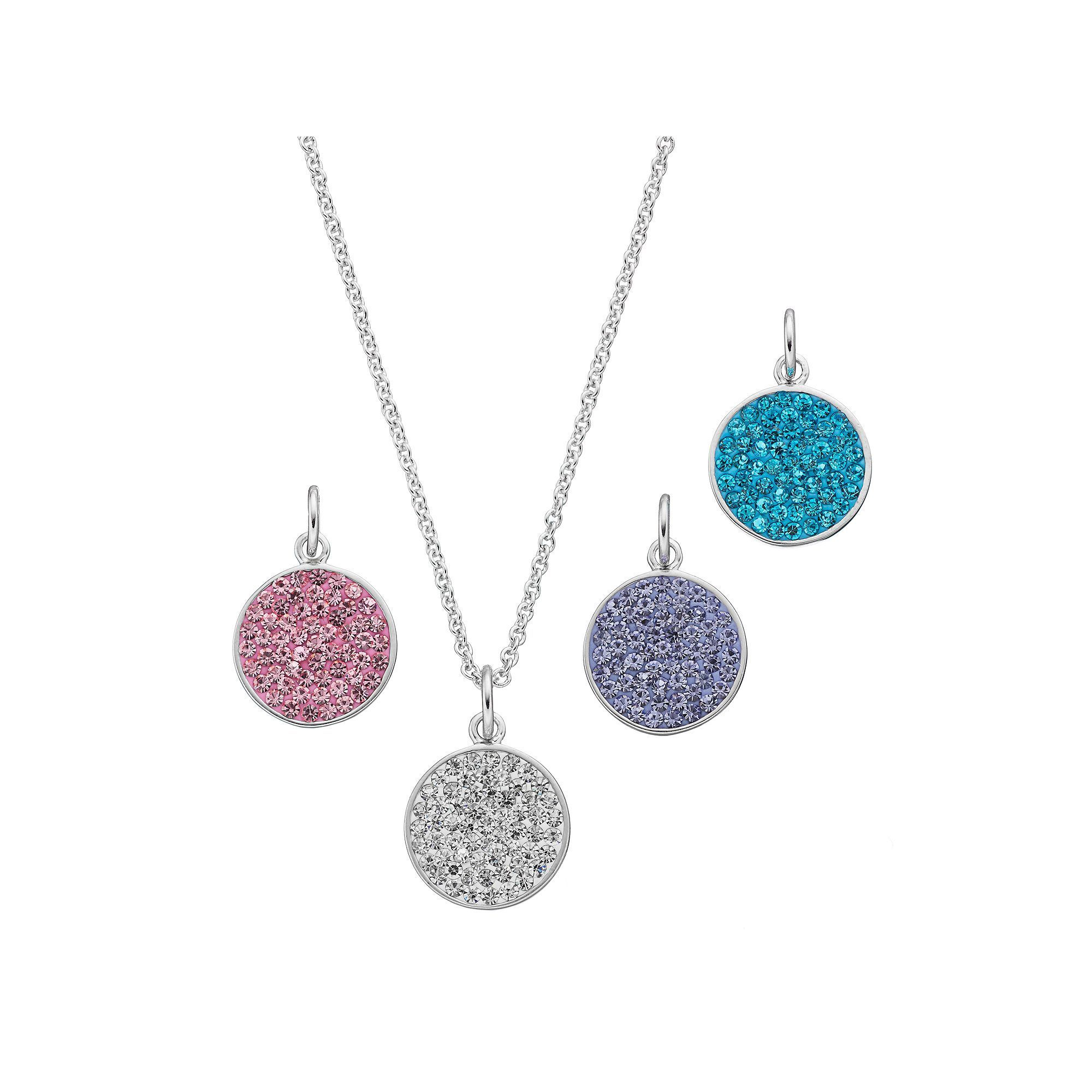 Pastel crystal disc pendant set womenus multicolor products