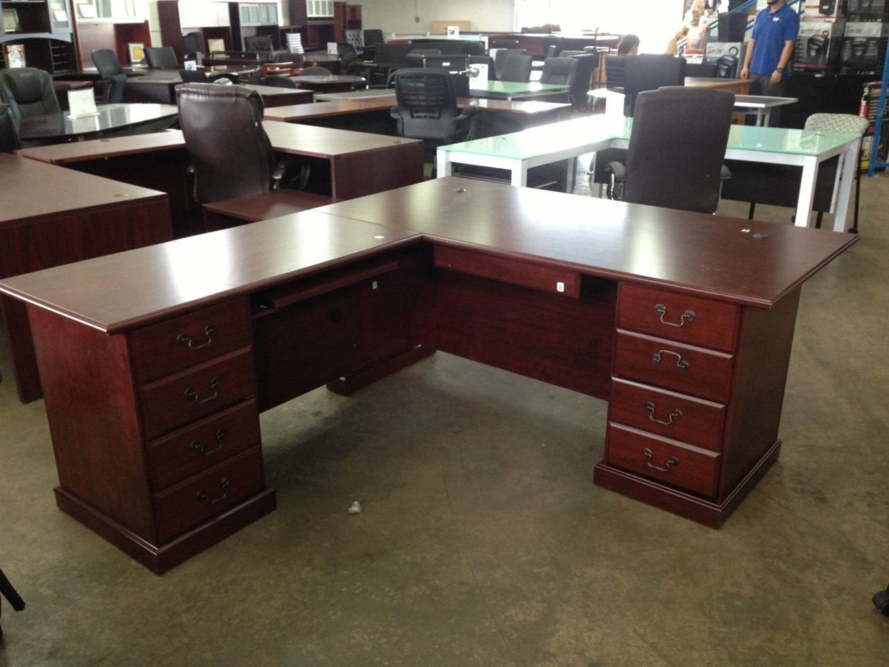 l shaped executive office desk country home office furniture