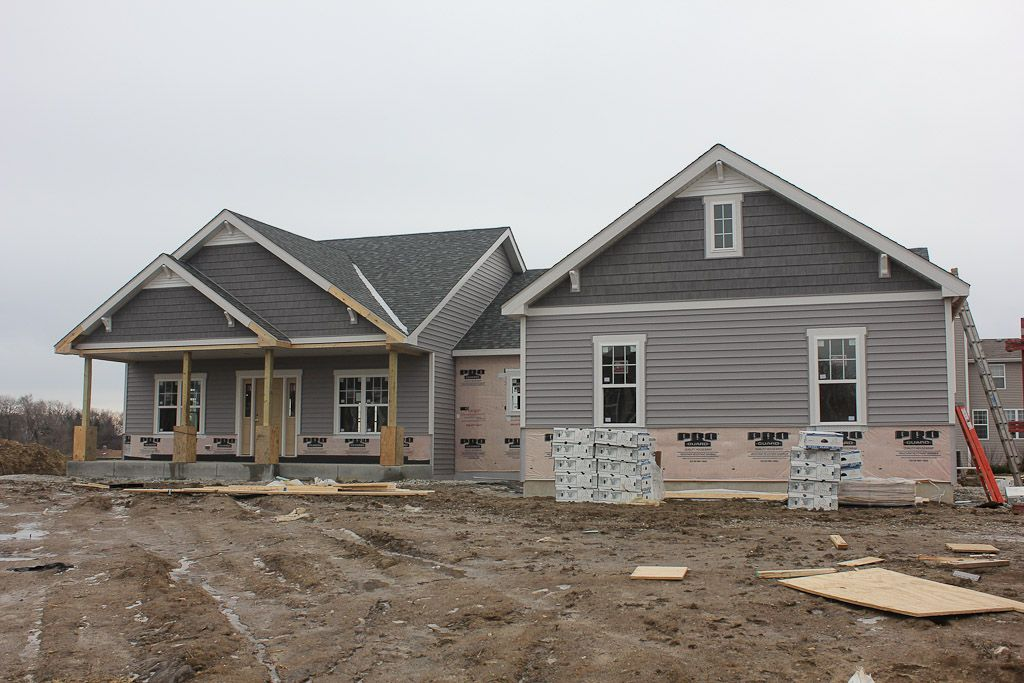 lot 23 (house construction blog, grey or gray ranch house, shake and ...