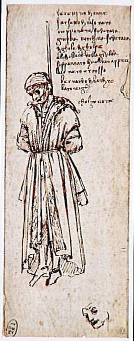 Retrato De Bernardo Di Bandino Baroncelli Executado Leonardo Da