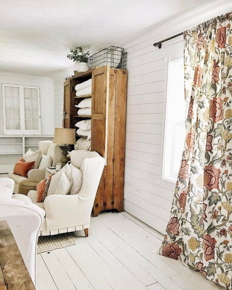 90 awesome modern farmhouse curtains for living room