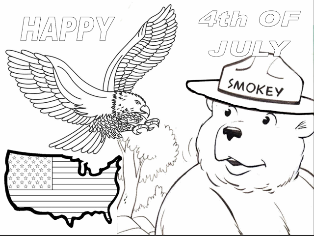 Virginia Wildfire Information And Prevention Have A Safe And Fire Free 4th Bear Coloring Pages Coloring Pages Smokey The Bears
