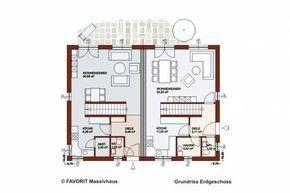 Favorit Haus http favorit haus de massivhaeuser doppelhaus finesse 107