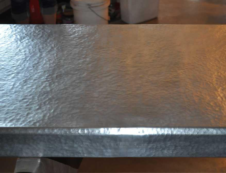 Hammered Zinc Countertop Zinc Countertops Hammered Zinc Metal Countertops