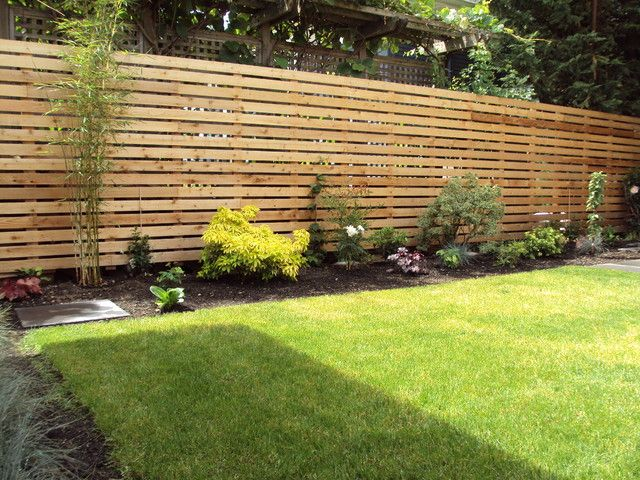 nice fencing modern garden modern landscaping on backyard fence landscaping id=86367