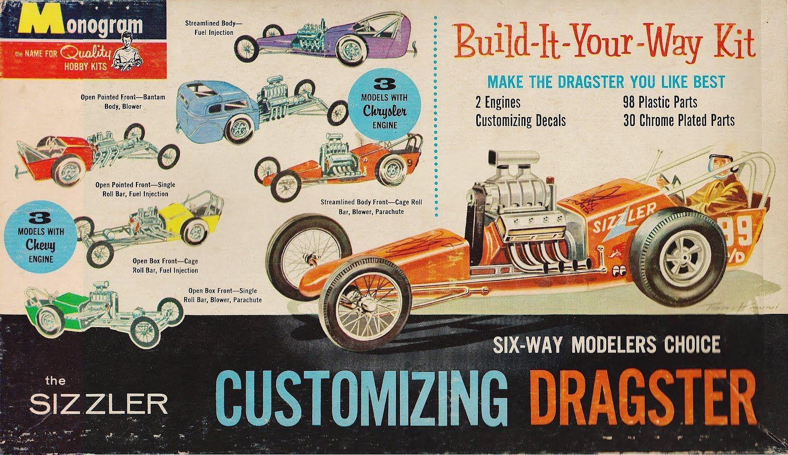 Monogram - Customizing Dragster. Great Box Art!