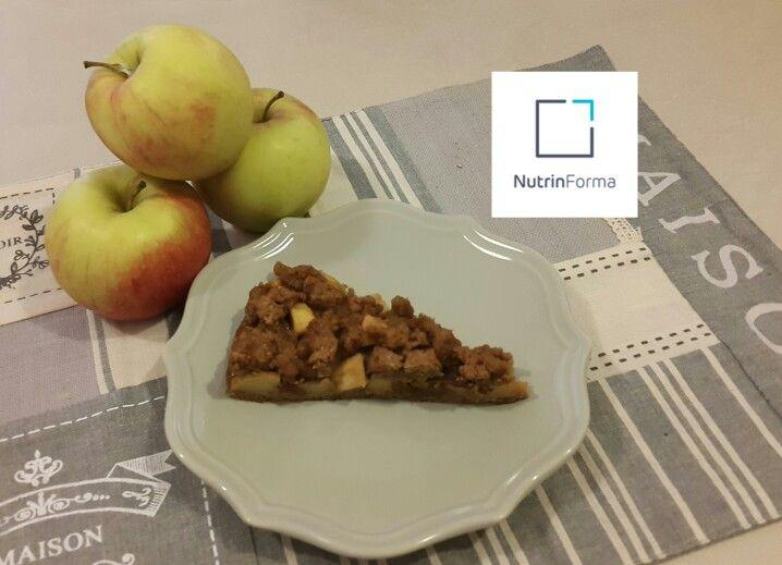 Crostata sbriciolata integrale alle mele e cannella