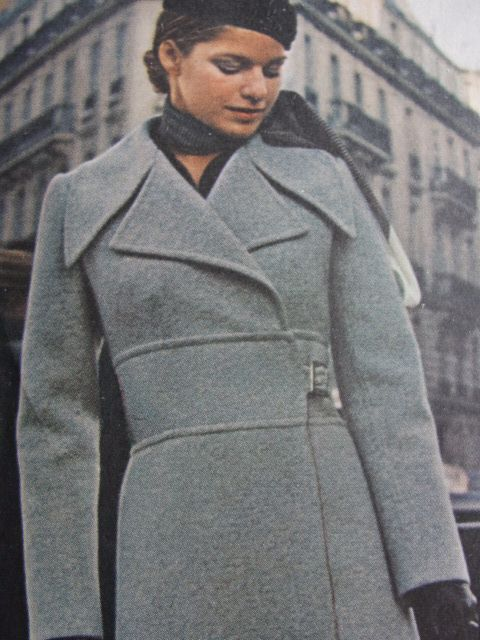 70s FAB Christian DIOR Coat, Skirt and Shirt Pattern Vogue Paris Original 2404 Classy Coat in 2 lengths Bust 34 Vintage Sewing Pattern