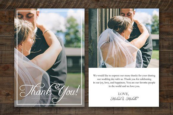 Wedding Thank You Card PSD Template by ShalexDesigns on @creativemarket