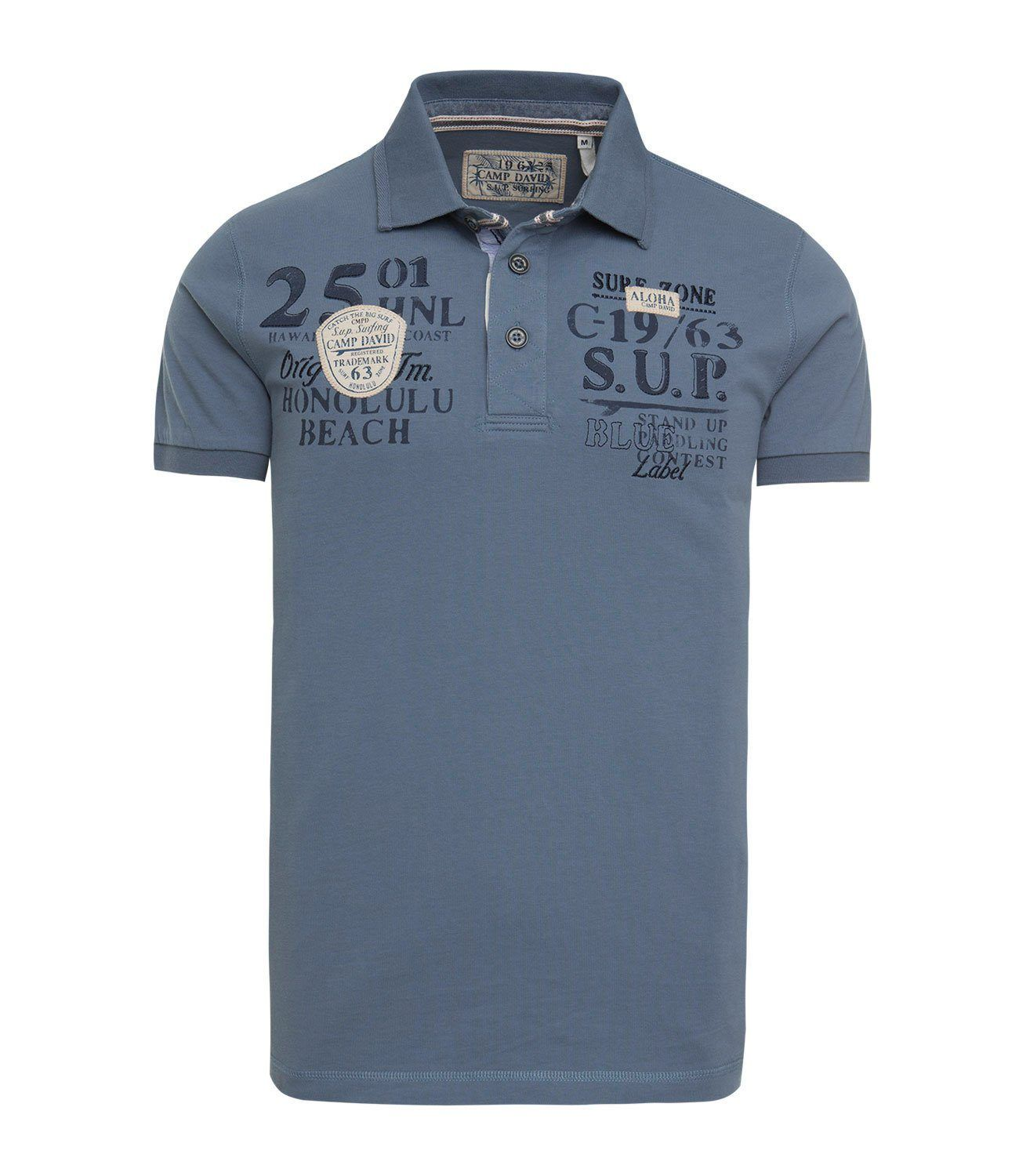 shoes for cheap wholesale sales great fit CAMP DAVID Poloshirt mit Seitenschlitze in 2019 | MEN ...