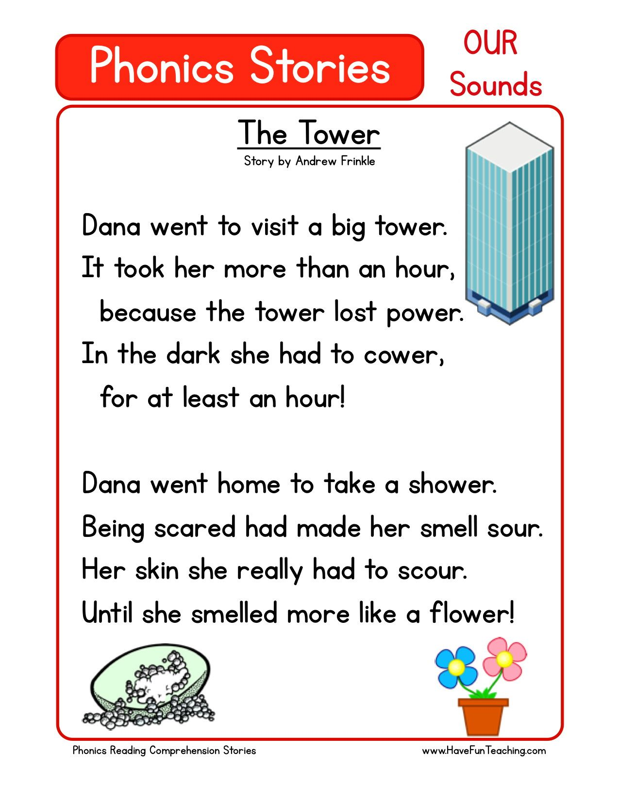 Reading Comprehension Worksheet The Tower Phonics Reading Reading Comprehension Worksheets Phonics Reading Passages