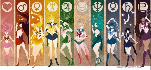 sailor scouts symbols - Google Search