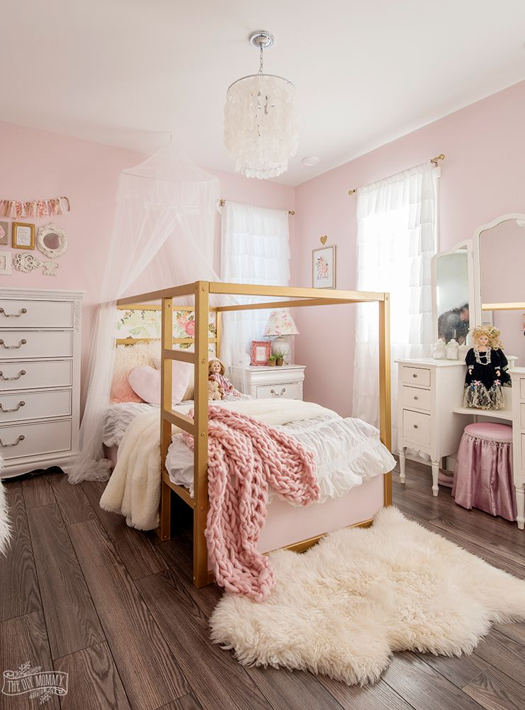Beautiful Practical Kids Bedroom Organization Ideas The Diy Mommy Girls Bedroom Makeover Pink Bedroom Design Gold Bedroom