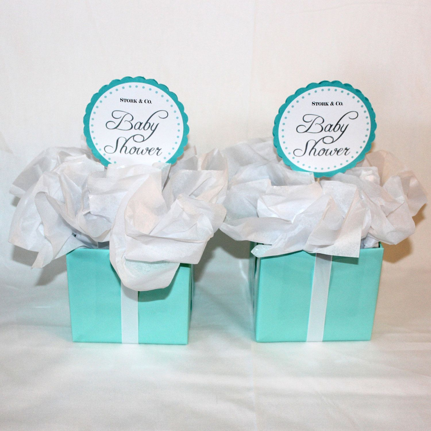 2 Centerpieces - Tiffany Co. Inspired Box - Tiffany Blue and White ...