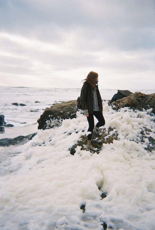 ...sea foam stepping.