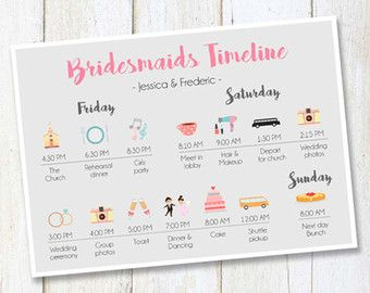 Bridesmaids  Groomsmen Time Line Wedding Day By Eventswithgrace