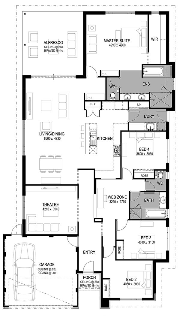 2d Floorplan Home Design Floor Plans House Blueprints House Plans Farmhouse