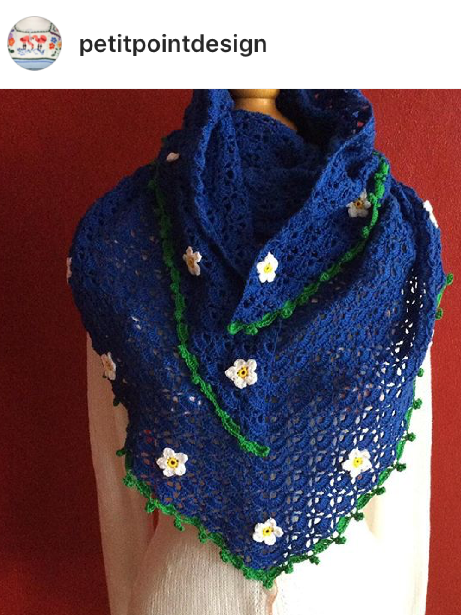 Pin de Petit Point Design en Gehaakte sjaals crochet shawls ...